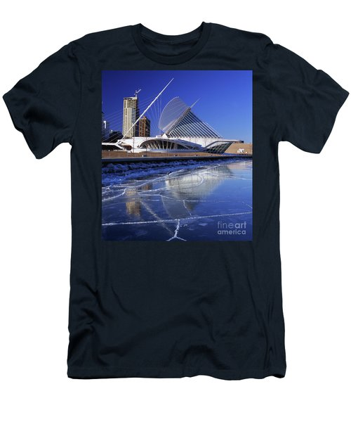 Milwaukee Art Museum Reflecting In Ice Floating On The Lake Men's T-Shirt (Athletic Fit)