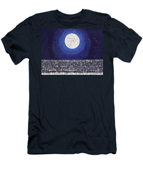 Moonbathing Original Painting Men's T-Shirt (Athletic Fit)