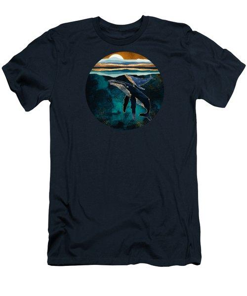 Moonlit Whales Men's T-Shirt (Athletic Fit)
