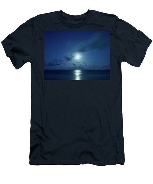 Moonrise Over The Sea Men's T-Shirt (Athletic Fit)