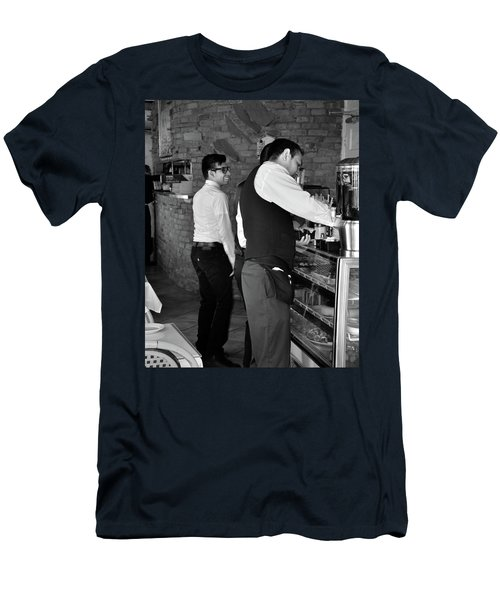 Men's T-Shirt (Athletic Fit) featuring the photograph New York, New York 18 by Ron Cline