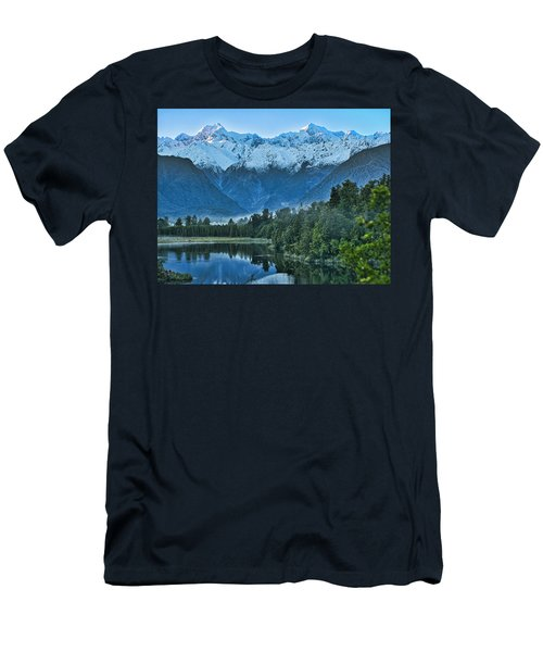 Men's T-Shirt (Athletic Fit) featuring the photograph New Zealand Alps 2 by Steven Ralser