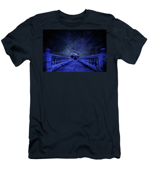 Night Sky Over The Temple Men's T-Shirt (Athletic Fit)