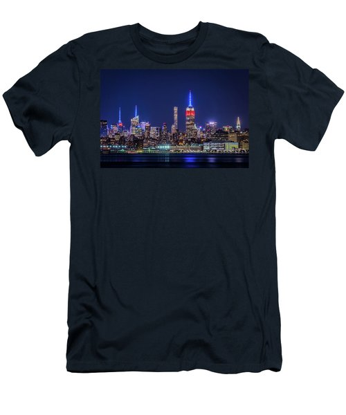 Men's T-Shirt (Athletic Fit) featuring the photograph Nyc At The Blue Hour by Francisco Gomez