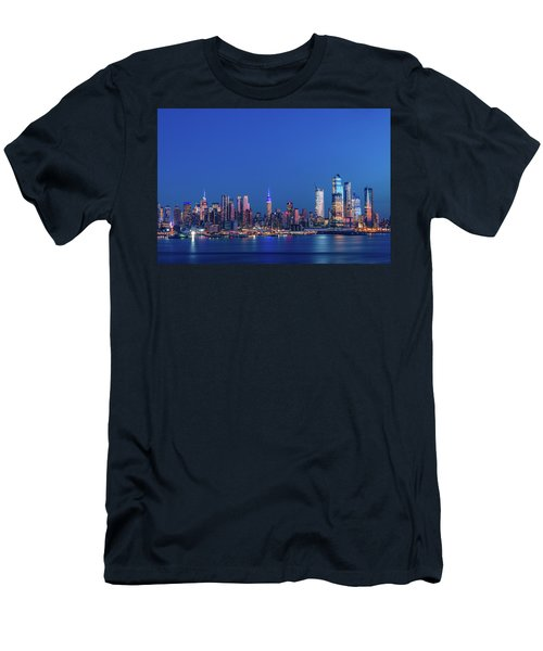 Men's T-Shirt (Athletic Fit) featuring the photograph Nyc The Blue Hour by Francisco Gomez