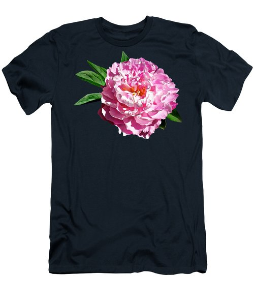 One Pale Pink Peony Men's T-Shirt (Athletic Fit)