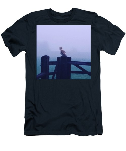 Owl In The Mist Men's T-Shirt (Athletic Fit)