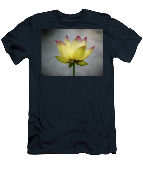 Pink Tipped Lotus Men's T-Shirt (Athletic Fit)