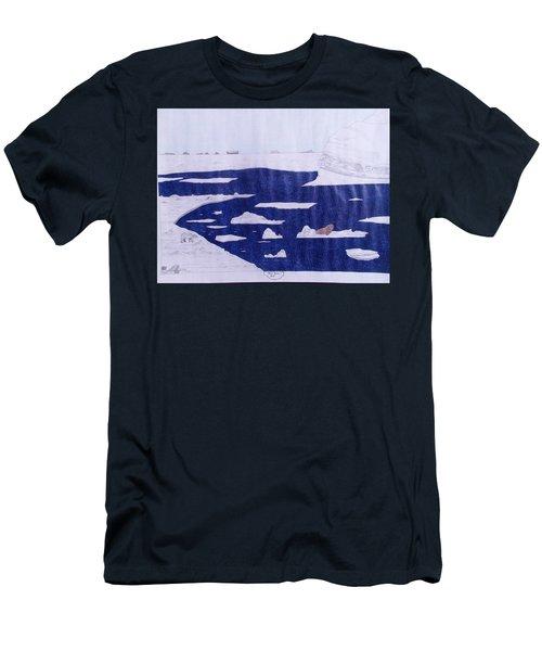 Polar Bear Hunting Men's T-Shirt (Athletic Fit)