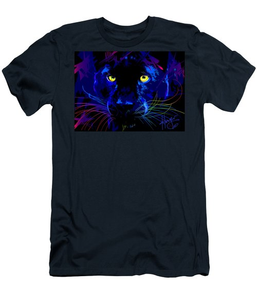 pOpCat Black Panther Men's T-Shirt (Athletic Fit)