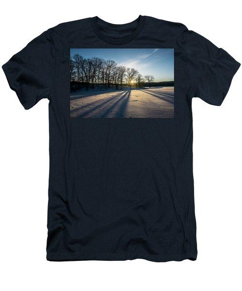 Pretty Winter Sun Rise Scene Men's T-Shirt (Athletic Fit)