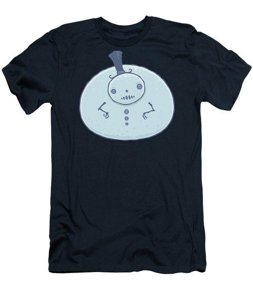 Pudgy Snowman Men's T-Shirt (Athletic Fit)