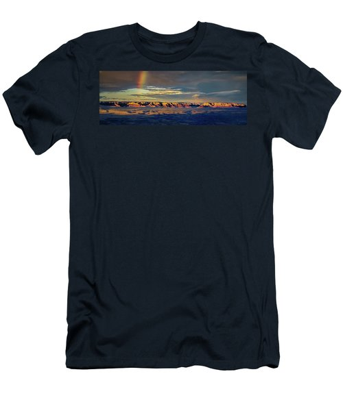 Rainbow Over Sedona Men's T-Shirt (Athletic Fit)