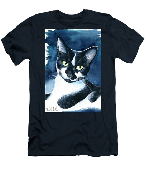 Rollie Tuxedo Cat Painting Men's T-Shirt (Athletic Fit)