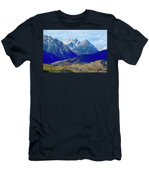 Men's T-Shirt (Athletic Fit) featuring the photograph Rugged Peaks by Dan Miller