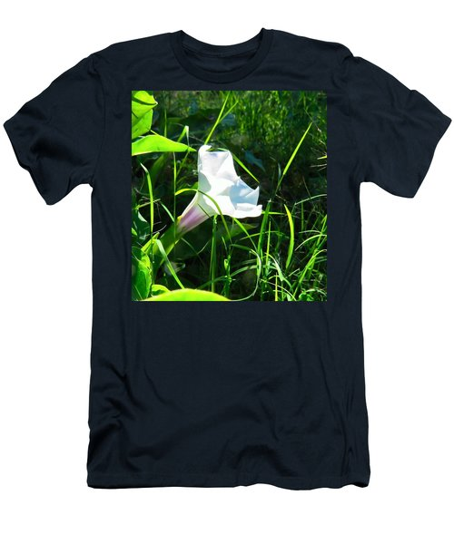 Men's T-Shirt (Athletic Fit) featuring the photograph Sacred Datura - Fairy Flower by Judy Kennedy