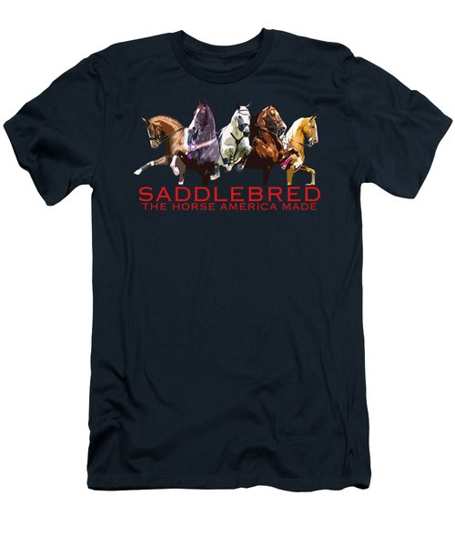 Saddlebred - The Horse America Made Men's T-Shirt (Athletic Fit)
