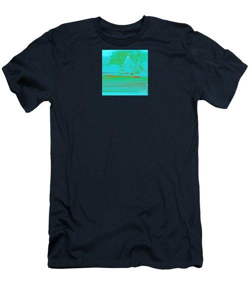 Sails In The Mist  Men's T-Shirt (Athletic Fit)