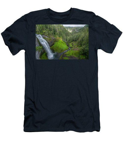 Men's T-Shirt (Athletic Fit) featuring the photograph Salt Creek Falls And Gorge by Matthew Irvin