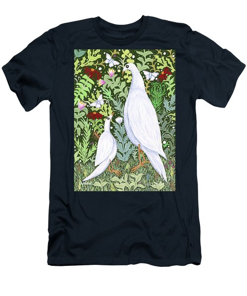 Sapientes Pacis Birds Men's T-Shirt (Athletic Fit)