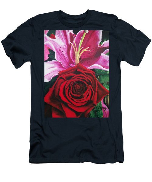 Scarlet Knight And A  Lily  Men's T-Shirt (Athletic Fit)