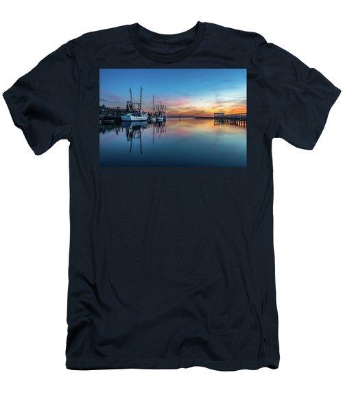 Shem Creek Blue Hour, Mt. Pleasant Sc Men's T-Shirt (Athletic Fit)