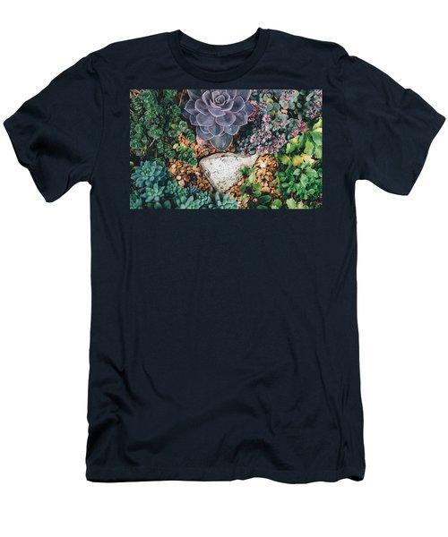 Small Succulent Garden Men's T-Shirt (Athletic Fit)