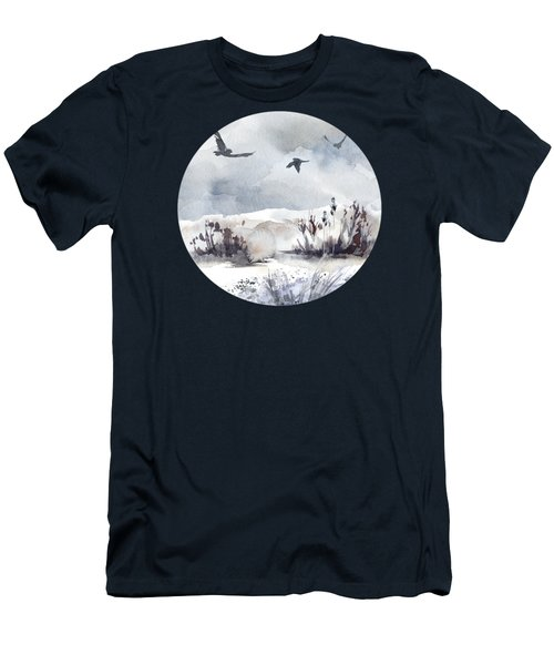 Soaring Above Sandy Beaches Against Stormy Skies Men's T-Shirt (Athletic Fit)
