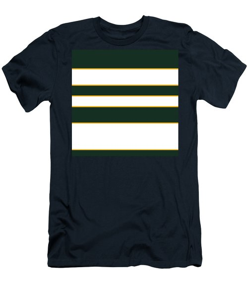 Stacked - Green, White And Yellow Men's T-Shirt (Athletic Fit)