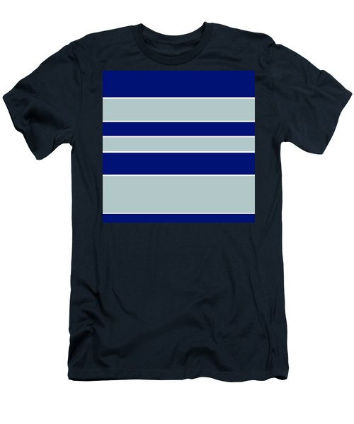 Stacked - Navy, Grey, And White Men's T-Shirt (Athletic Fit)