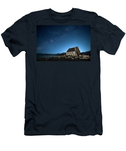 Stars And Midnight Blue Men's T-Shirt (Athletic Fit)