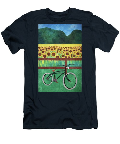 Sunflowers At Whitehall Farm Men's T-Shirt (Athletic Fit)