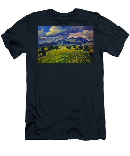 Taos Yellow Flowers Men's T-Shirt (Athletic Fit)