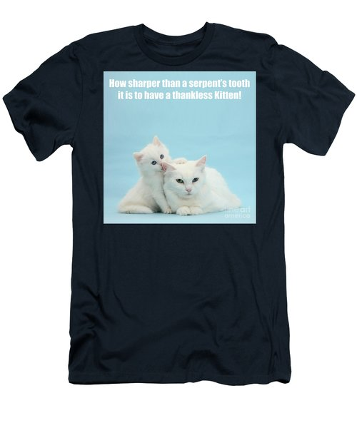Men's T-Shirt (Athletic Fit) featuring the photograph Thankless Kitten by Warren Photographic
