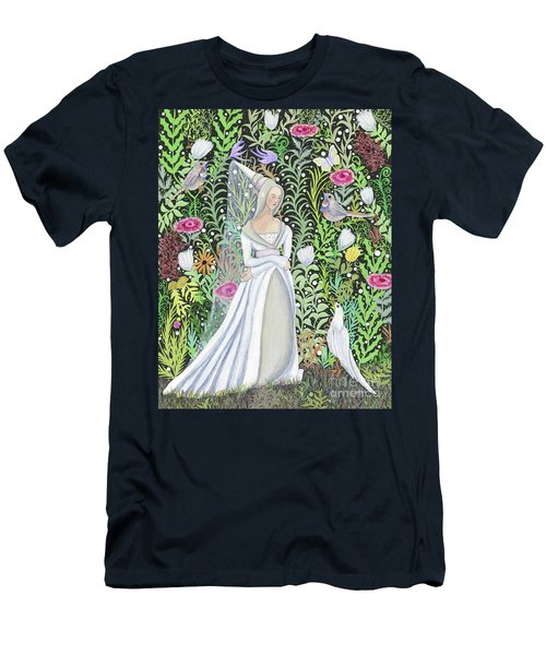 The Lady Vanity Takes A Break From Mirroring To Dream Of An Unusual Garden  Men's T-Shirt (Athletic Fit)