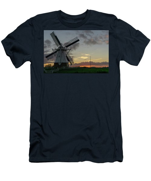 Men's T-Shirt (Athletic Fit) featuring the photograph The White Mill by Anjo Ten Kate