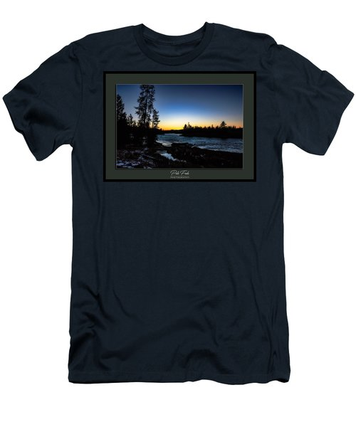 Men's T-Shirt (Athletic Fit) featuring the photograph The Yellowstone River by Pete Federico