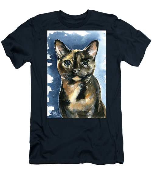 Tiffany Tortoiseshell Cat Painting Men's T-Shirt (Athletic Fit)