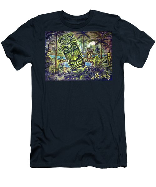 Tiki Genie's Sacred Pools Men's T-Shirt (Athletic Fit)