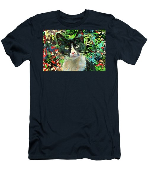 Tucker The Tuxedo Cat Men's T-Shirt (Athletic Fit)