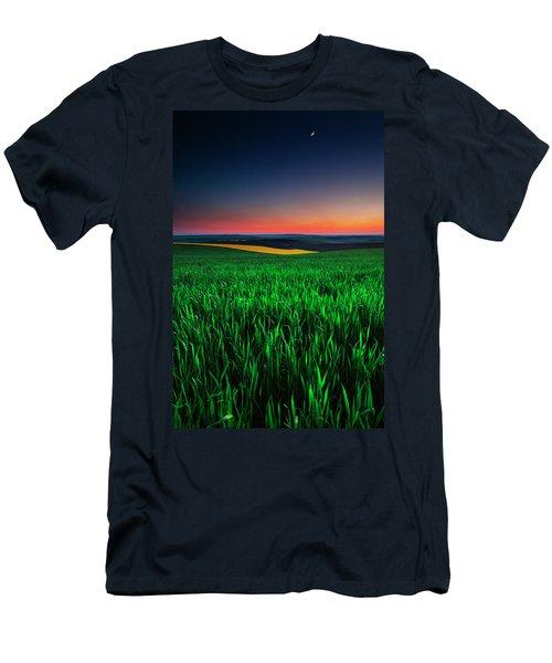 Twilight Fields Men's T-Shirt (Athletic Fit)