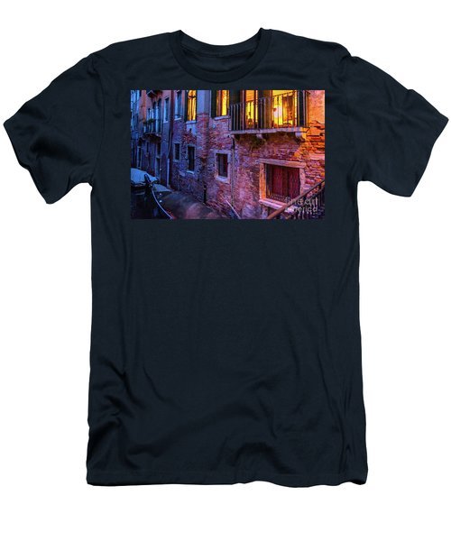 Venice Windows At Night Men's T-Shirt (Athletic Fit)