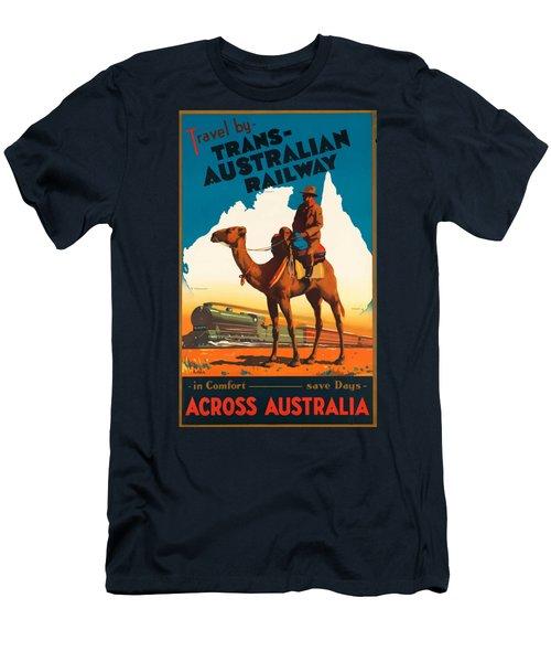 Vintage Travel Poster - Australia Men's T-Shirt (Athletic Fit)