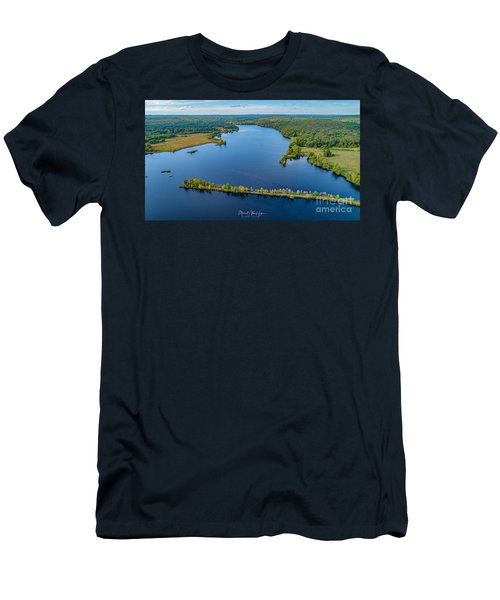 Men's T-Shirt (Athletic Fit) featuring the photograph West Thompson Lake by Michael Hughes