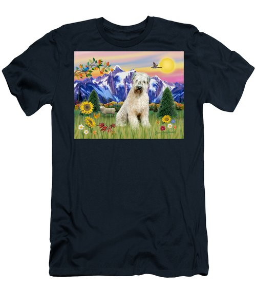 Wheaten Terrier In The Country Men's T-Shirt (Athletic Fit)