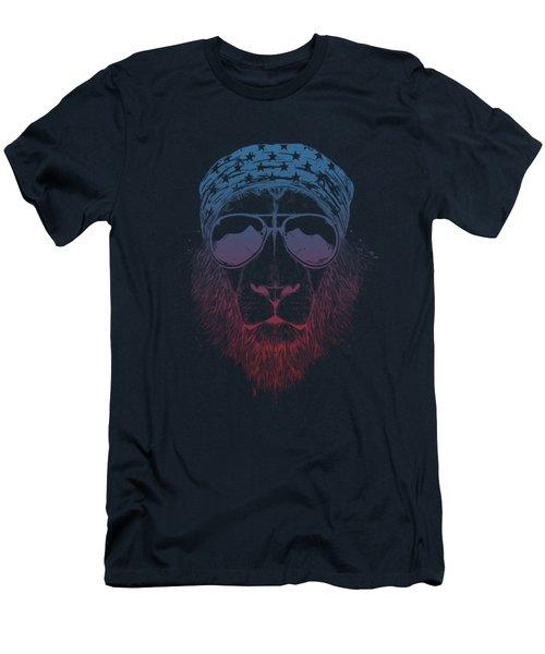Wild Lion  Men's T-Shirt (Athletic Fit)