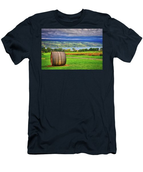 Men's T-Shirt (Athletic Fit) featuring the photograph Wine Country - Finger Lakes, New York by Lynn Bauer