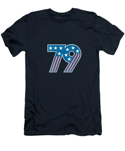 Womens 1979 40th Birthday Retro American Flag Stars And Stripes V-neck T-shirt Men's T-Shirt (Athletic Fit)
