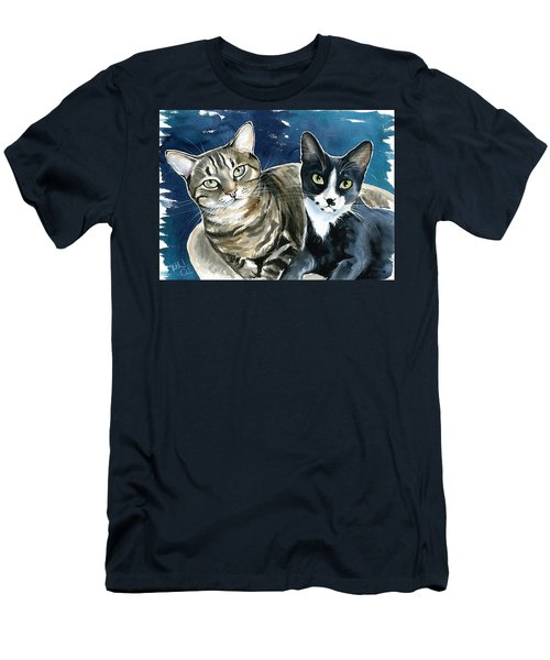 Xani And Zach Cat Painting Men's T-Shirt (Athletic Fit)