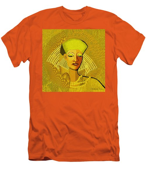 189 Metallic Woman Golden Pearls Men's T-Shirt (Athletic Fit)